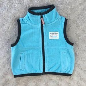 Carter's Fleece Vest Blue Newborn Polar Bear